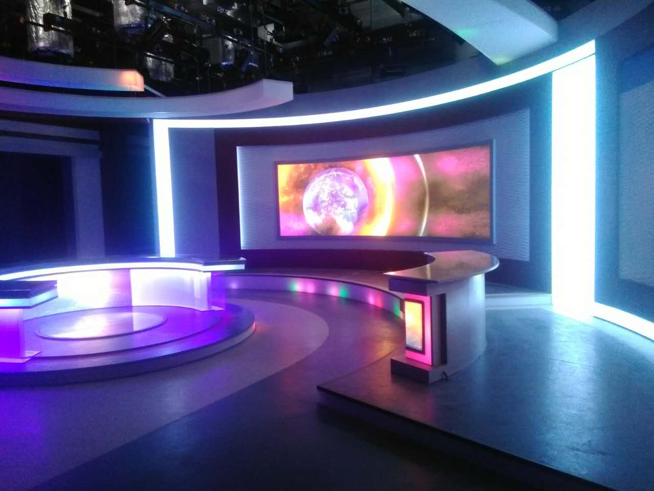 榆林电视台演播室装修及舞美置景